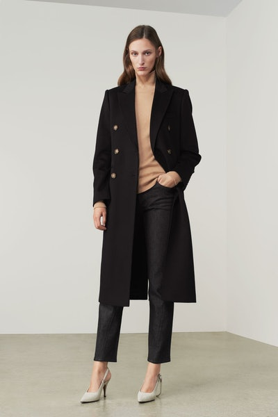 Tailored Slim Coat in Deep Navy