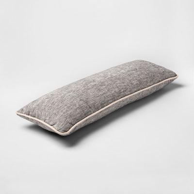 Smith & Hawken Gray Lumbar Throw Pillow