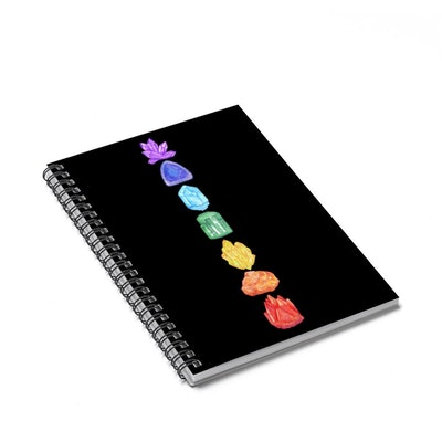 7 Chakras Crystals Spiral Notebook