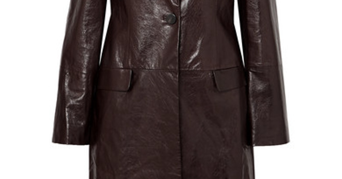 size 40 c11a3 7f257 Textured Leather Coat