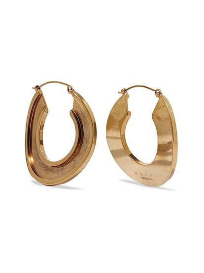 Monile Gold-Tone Hoop Earrings