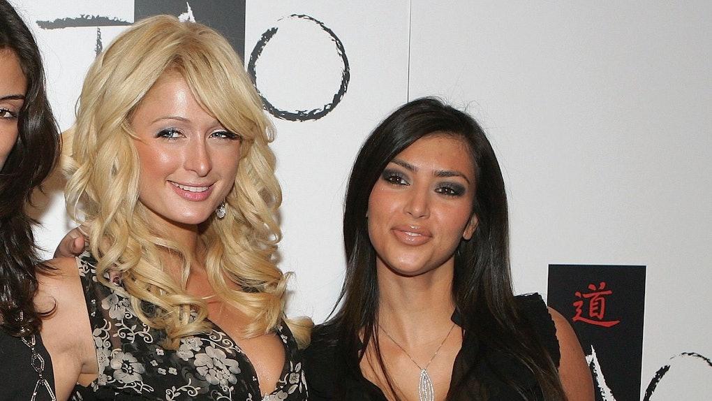 7c3badb8 The Video Of Kim Kardashian Sledding With Paris Hilton In Heels For  Christmas Is A Lot
