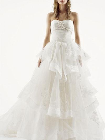 Strapless Tulle Wedding Dress