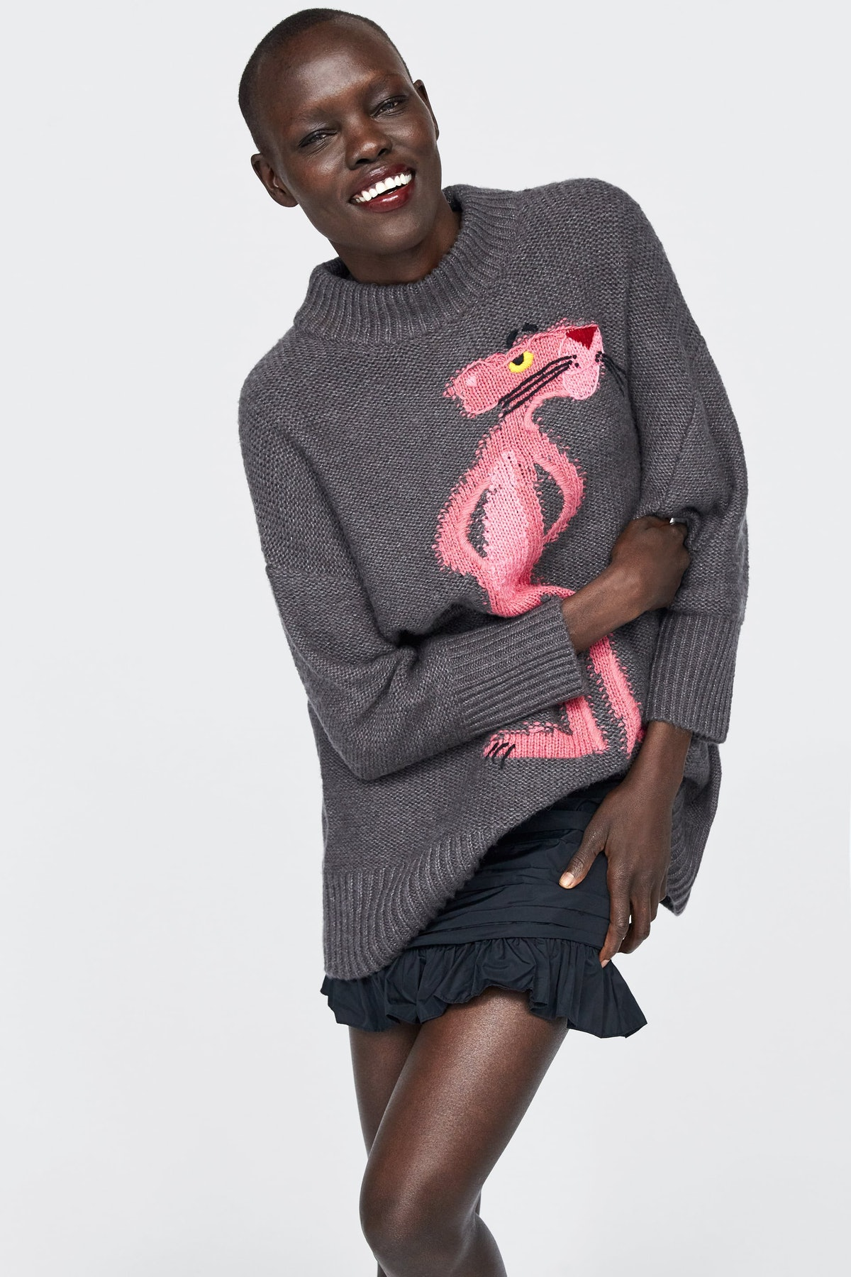 Oversized Pink Panther Sweater