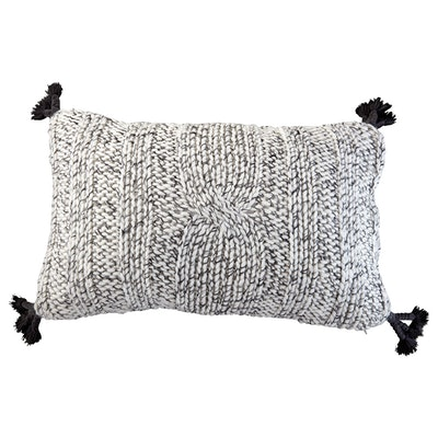Light Gray Knitted Cushion