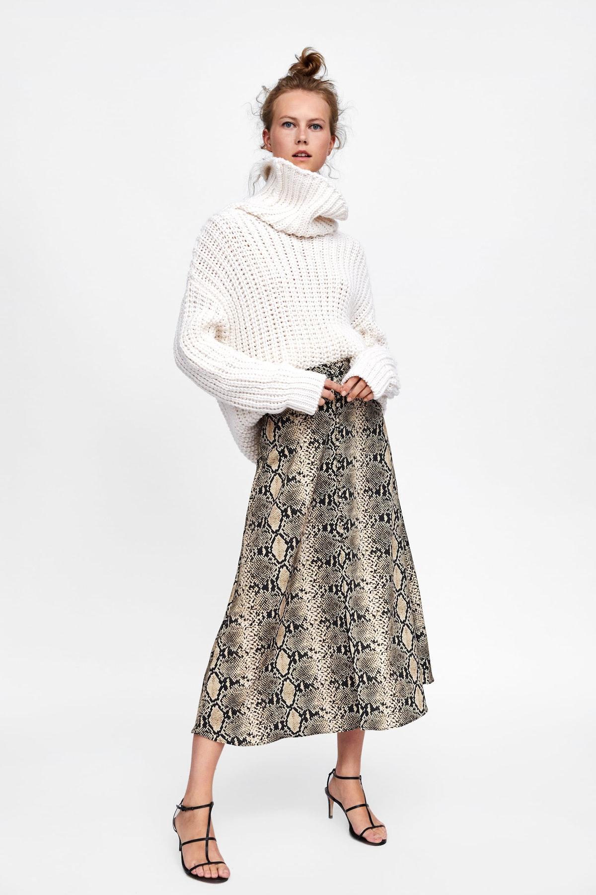 Snake Print Skirt