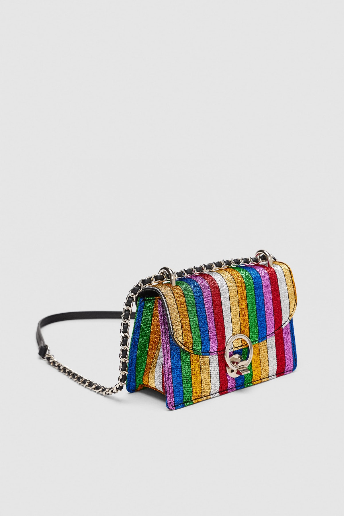 Striped Multicolor Mini Crossbody Bag