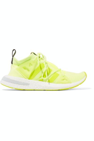 Arkyn Rubber-Trimmed Neon Mesh Sneakers