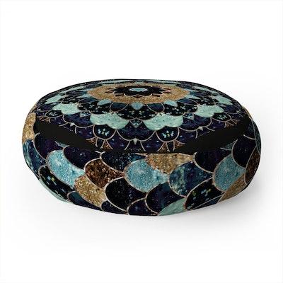 Deny Designs Monika Strigel Really Mermaid Mystic Blue Floor Pillow