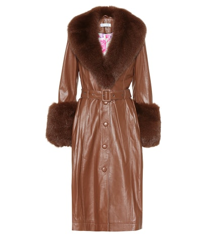 Foxy Brown Leather Coat