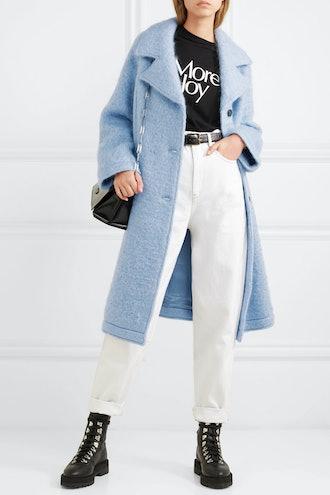 Oversized Wool-Blend Bouclé Coat
