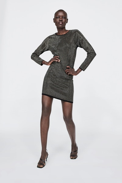 Knit Dress With Beading