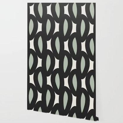 Geo Six-Celadon Wallpaper