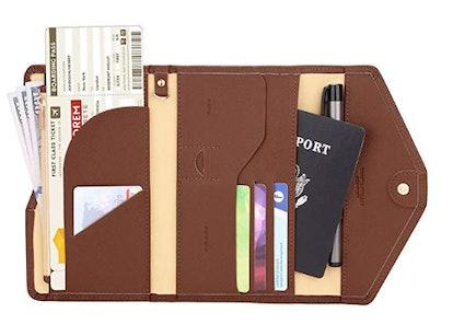 Zoppen RIFD-Blocking Passport Wallet
