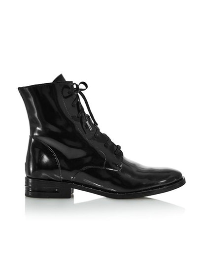 Women's Patent-Leather Combat Boots