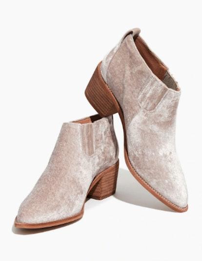 The Grayson Chelsea Boot in Velvet