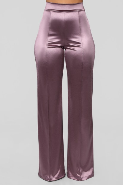 Make a Wish Stretch Satin Pants