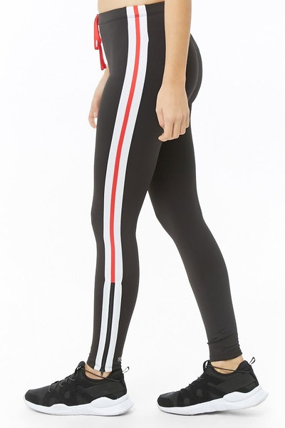 Total Coverage Striped Leggings