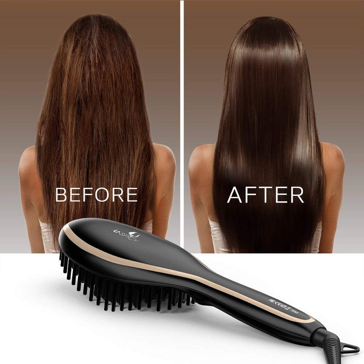 USpicy Hair Straightening Brush