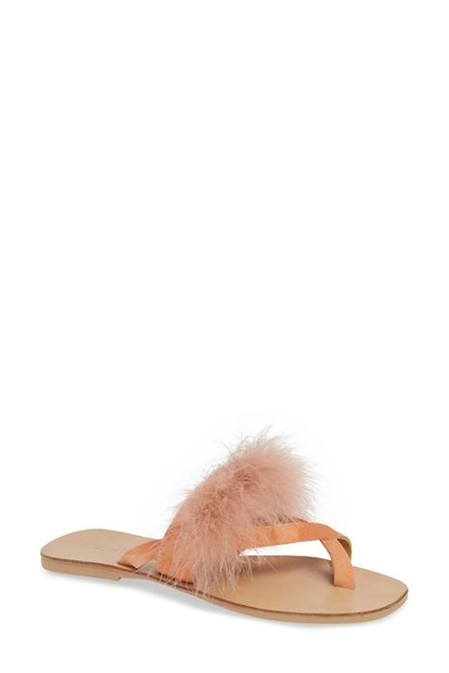 TOPSHOP Holly Fluff Slide Sandal