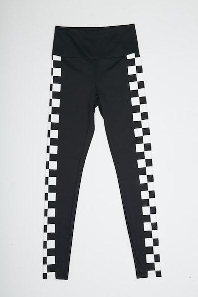 Active Checkered Trim Leggings