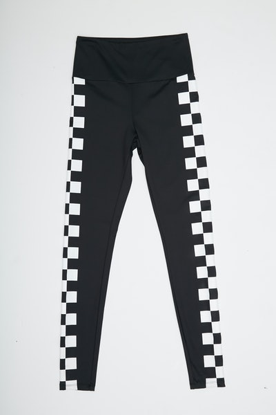 Active Checkered Trim Leggings