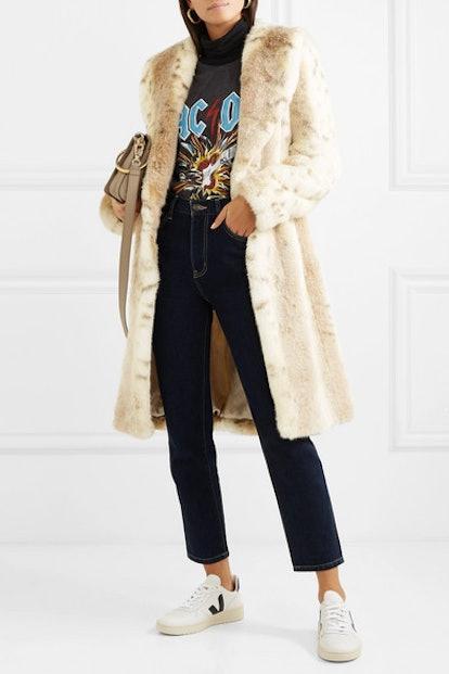Snow Knight Faux Fur Coat