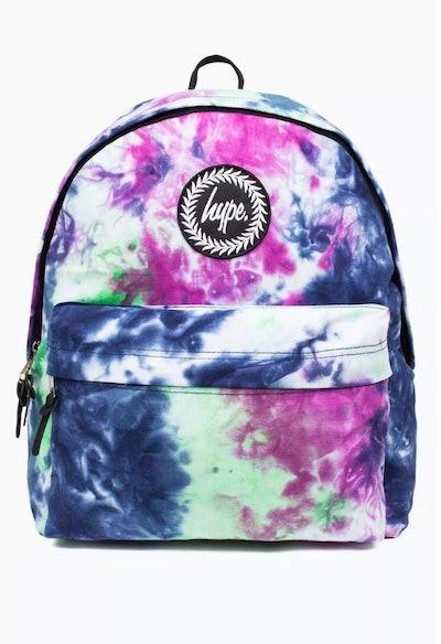 Hype Blue Tie Dye Backpack