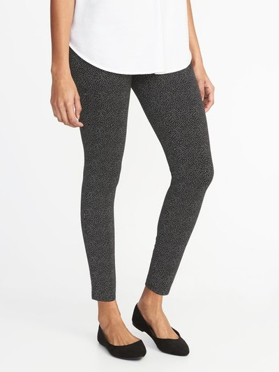 Jersey Elastic-Waist Leggings for Women