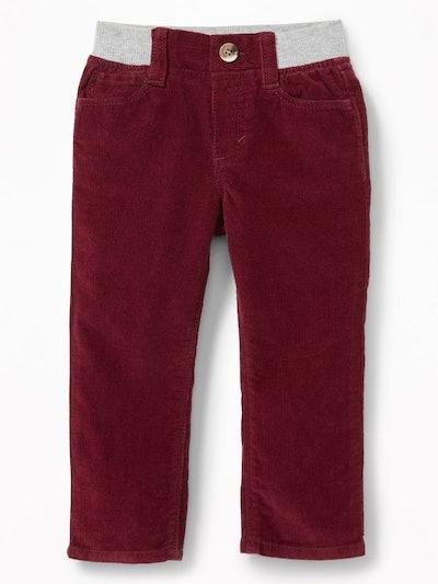 Rib-Waist Pull-On Skinny Cords for Toddler Boys