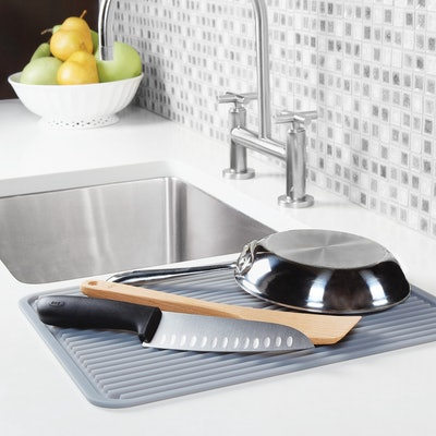 OXO Silicone Dish Drying Mat - Gray (Large)