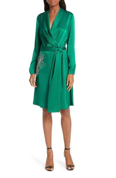 Ba&Sh Janeiro Satin Wrap Dress