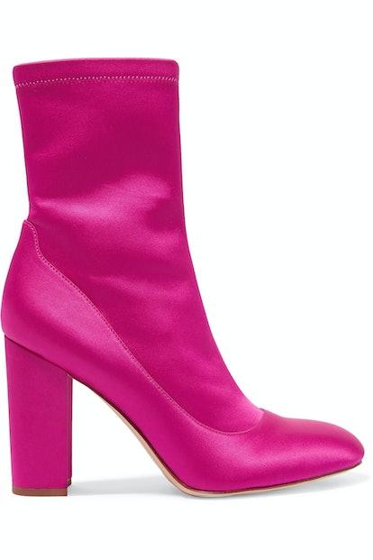 Sam Edelman Calexa Stretch-Satin Sock Boots