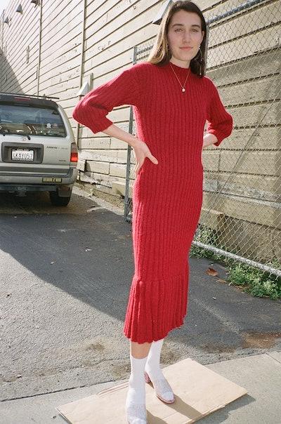 Ajaie Alaie Bonita Dress - Merlot Red