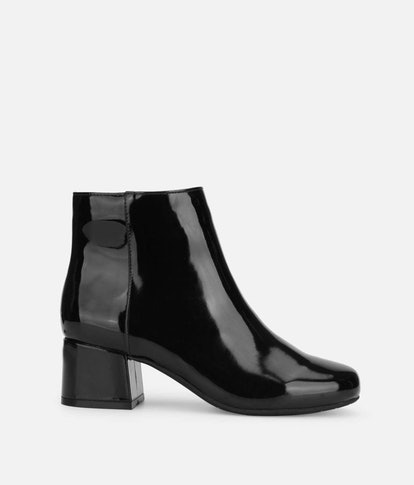 Road Stop Glossy Patent Leather Bootie