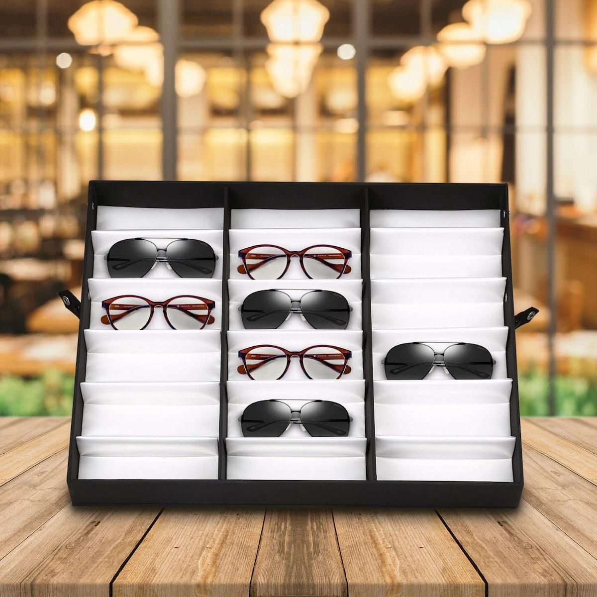 amzdeal Sunglass Display Case
