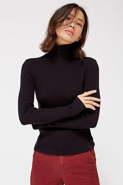 Sweater Rib Turtleneck