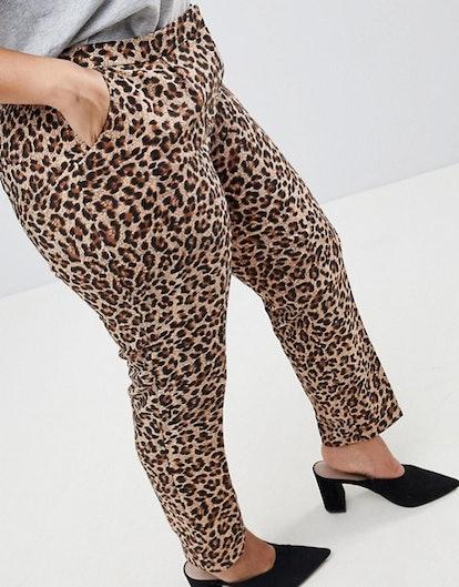 Hero Plus Cigarette Pants In Leopard Print