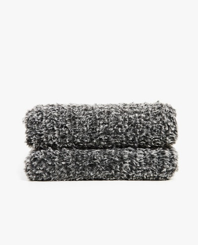 Knit Faux Fur Blankets