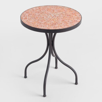 Round Coral Cadiz Accent Table