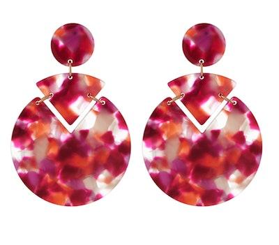 Colour Block Resin Earrings