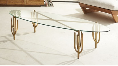 Cacti Brass Coffee Table