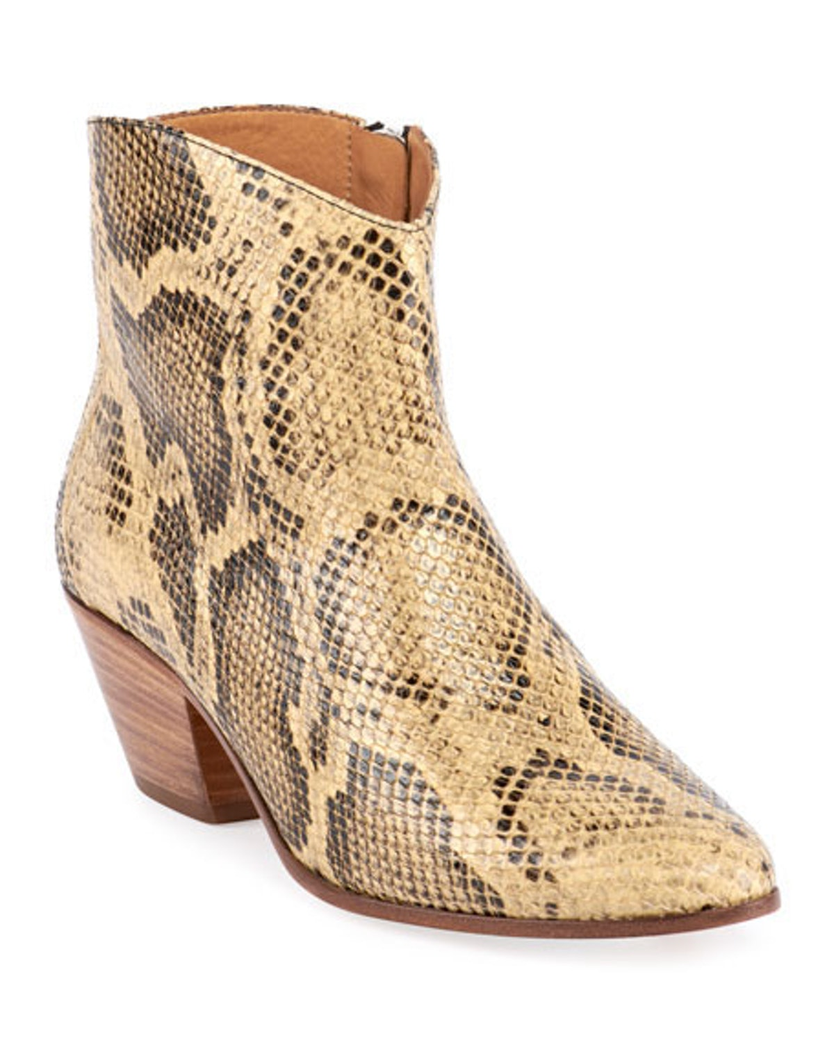Dacken Snake-Print Ankle Boots