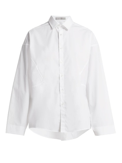 Parallel Cotton Poplin Shirt