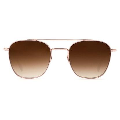Earhart Rose Gold Titanium Sunglasses