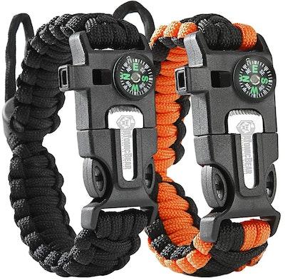 Atomic Bear Paracord Bracelets (Set of 2)