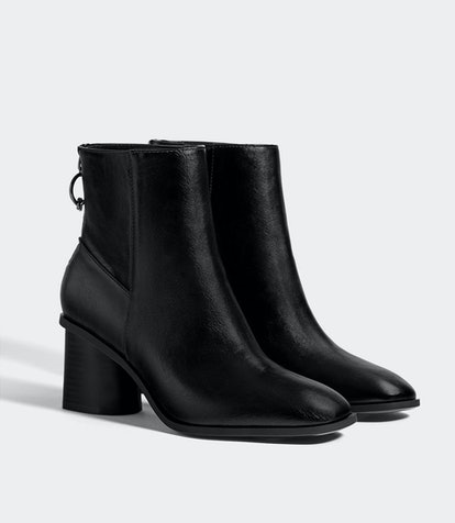 Mid-Heel Ankle Boots With A Ring Detail