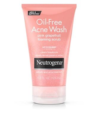 Oil-Free Acne Wash Pink Grapefruit Foaming Scrub