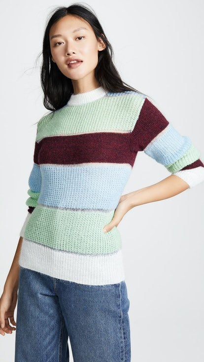 Massimo Mohair Color Blocked Pullover