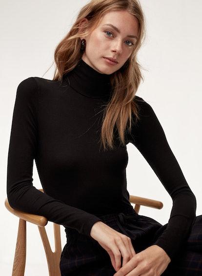 Huet T-Shirt Long-Sleeve, Ribbed Turtleneck Shirt
